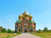 Cathedral of St.Vladimir. Cathedral of Grand Prince St. Vladimir, Equal-to-the-Apls. (The biggest orthodox temple on the Eastern Ukraine, location: Lugansk royalty free stock images