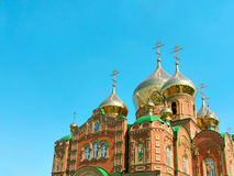 Cathedral of St.Vladimir. Cathedral of Grand Prince St. Vladimir, Equal-to-the-Apls. The biggest orthodox temple on the Eastern Ukraine Royalty Free Stock Photography