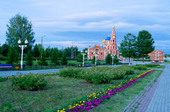 Cathedral of St. Vladimir Novocheboksarsk. Royalty Free Stock Photography