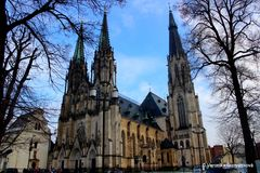 Cathedral of St. Wenceslas in Olomouc. royalty free stock image