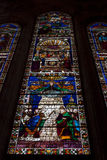 Cathedral Stained Glass Basilica of Santa Croce - Florence Royalty Free Stock Photos
