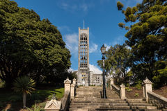Cathedral with staircase in Nelson, New Zealand stock images