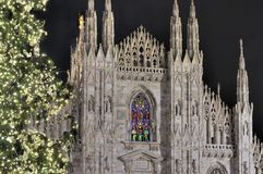 Cathedral steeples at Christmas, Milan Royalty Free Stock Image