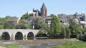 Cathedral with stone bridge Stock Photo
