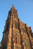 Cathedral Strasbourg. Historic Cathedral in the Strasbourg Stock Images