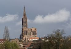 Cathedral in Strasbourg Royalty Free Stock Images