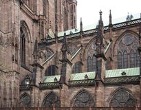 Cathedral in Strasbourg detail Royalty Free Stock Images