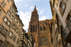 Cathedral in Strasbourg, France Royalty Free Stock Photos