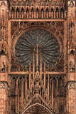 Cathedral at Strasbourg, France Stock Images