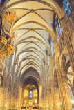 Cathedral Of Strasbourg. Impressive cathedral of Strasbourg indoor view Stock Photography