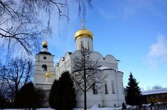 Cathedral of Sts. Boris and Gleb in Dmitrov. Dmitrov, Moscow Region, Russian Federation, - November 27, 2016:  Monastery Cathedral of Sts. Boris and Gleb Stock Photos