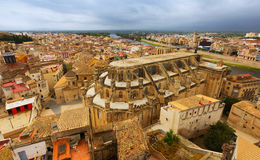 Cathedral from Suda castle in Tortosa Stock Photos