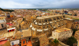 Cathedral from Suda castle in Tortosa Stock Image