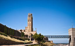 Cathedral of Sue Vella, LLeida, Catalunya, Spain Royalty Free Stock Photo
