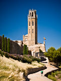 Cathedral of Sue Vella, LLeida, Catalunya, Spain. At the Citadel stock photo
