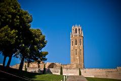 Cathedral of Sue Vella, LLeida, Catalunya, Spain. At the Citadel royalty free stock photo