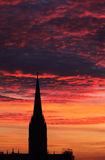 Cathedral in sunset Stock Images
