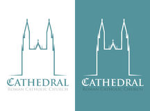 Cathedral symbol Royalty Free Stock Image