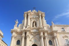 The cathedral of Syracuse. The main cathedral church of Siracusa, Sicily, Italy Stock Images