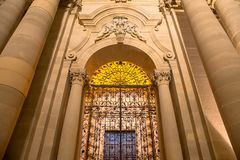 Cathedral of Syracuse entrance Royalty Free Stock Photo