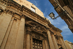 CATHEDRAL OF SYRACUSE-- historic city in Sicily, Italy Royalty Free Stock Photo