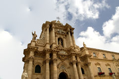 CATHEDRAL OF SYRACUSE-- historic city in Sicily, Italy Stock Photo