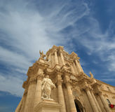 CATHEDRAL OF SYRACUSE-- historic city in Sicily, Italy Stock Photography