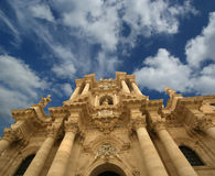 CATHEDRAL OF SYRACUSE, Sicily, Italy Stock Photo