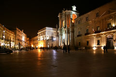 CATHEDRAL OF SYRACUSE, Sicily, Italy Royalty Free Stock Photo