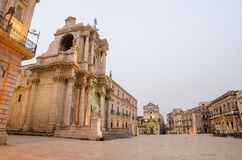The cathedral of Syracuse, Sicily Stock Image