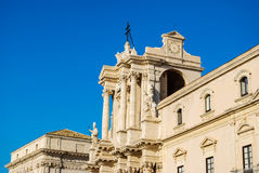 The Cathedral of Syracuse in Sicily Royalty Free Stock Images
