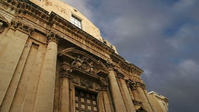 CATHEDRAL OF SYRACUSE (Siracusa, Sarausa)-- historic city in Sicily, Italy stock footage