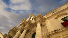 CATHEDRAL OF SYRACUSE (Siracusa, Sarausa)-- historic city in Sicily, Italy stock video