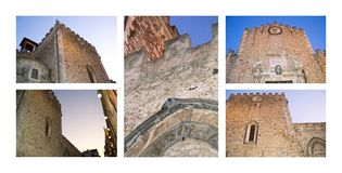 Cathedral of Taormina Royalty Free Stock Photography