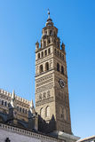Cathedral in Tarazona de Aragon, Saragossa, Spain. Bell tower of the cathedral of Nuestra Senora de la Huerta in Tarazona de Aragon, Saragossa, Spain Royalty Free Stock Photography