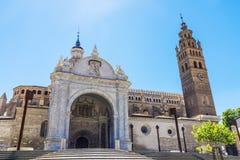 Cathedral in Tarazona de Aragon, Saragossa, Spain Royalty Free Stock Images