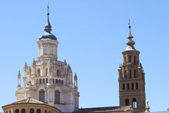 Cathedral of Tarazona, Spain. Dome and tower Stock Photos