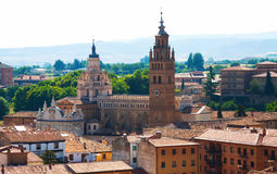 Cathedral of Tarazona in sunny day. Zaragoza Royalty Free Stock Images