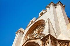 Cathedral of Tarragona facade. Roman Catholic church Royalty Free Stock Photo