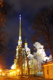 Cathedral temple at night Royalty Free Stock Photography