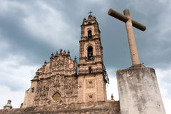 Cathedral, Tepotzotlan, Mexico. Royalty Free Stock Photography