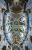 Church in Ternopil. Cathedral in Ternopil city in Ukraine, former Dominican Church Stock Photo