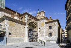 Cathedral at Teruel, Aragon, Spain. Front door Royalty Free Stock Photography