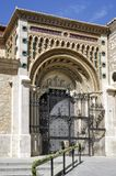 Cathedral at Teruel, Aragon, Spain. Front door Royalty Free Stock Images