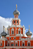 Cathedral of Theotokos icon of Sign in Sheremetev Yard (1691), Moscow Stock Photo