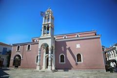 Skiathos island, Greece. Cathedral of the Three Hierarchs on Skiathos island, Greece royalty free stock image