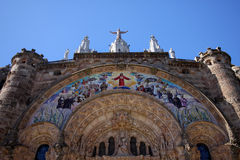 Cathedral on Tibidabo hill,Barcelona Stock Photos