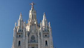 Cathedral on Tibidabo hill,Barcelona Royalty Free Stock Photography