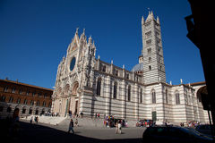 The cathedral to Siena. Panorama of the cathedral to Siena Royalty Free Stock Photography
