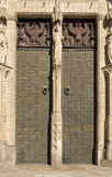 Cathedral of Toledo. Detail of the door of the Portal of Forgiveness of the Cathedral of Toledo, Spain royalty free stock image